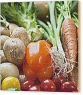Vegetables Wood Print by Elena Elisseeva