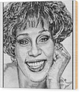 Whitney Houston In 1992 Wood Print by J McCombie