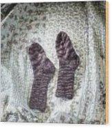 Woollen Socks Wood Print by Joana Kruse