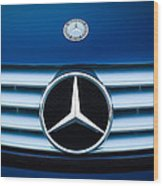 2003 Cl Mercedes Hood Ornament And Emblem Wood Print by Jill Reger