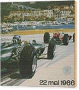 24th Monaco Grand Prix 1966 Wood Print by Georgia Fowler
