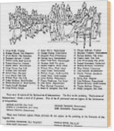 Declaration Of Independence Wood Print by Granger