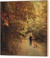 Autumn Stroll Wood Print by Jessica Jenney