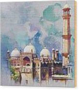 Badshahi Mosque Wood Print by Catf