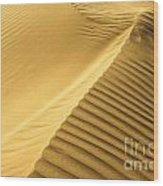 Desert Sand Dune Wood Print by Ezra Zahor