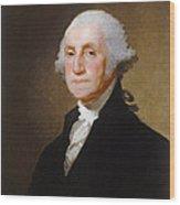 George Washington Wood Print by Gilbert Stuart