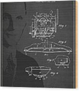 Henry Ford Engine Patent Drawing From 1928 Wood Print by Aged Pixel