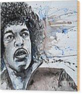 Jimi Hendrix  Wood Print by Ismeta Gruenwald