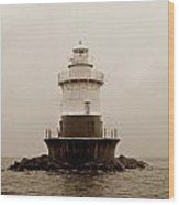 Old Orchard Lighthouse Wood Print by Skip Willits