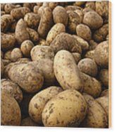 Potatoes Wood Print by Olivier Le Queinec