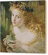 Take The Fair Face Of Woman Wood Print by Sophie Anderson