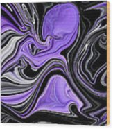 Abstract 57 Wood Print by J D Owen