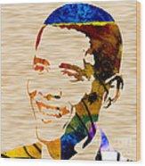 Barack Obama Wood Print by Marvin Blaine
