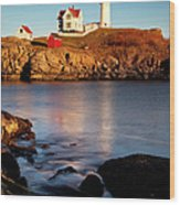 Nubble Lighthouse Wood Print by Brian Jannsen