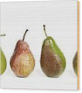 Pears Wood Print by Bernard Jaubert