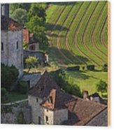 Saint Cirq Lapopie Wood Print by Brian Jannsen