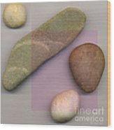 4 Stones Wood Print by David Klaboe