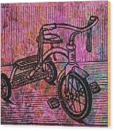 Tricycle Wood Print by William Cauthern