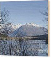 Alpine Lake Wood Print by Mats Silvan