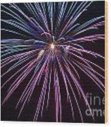 4th Of July 2014 Fireworks Bridgeport Hill Clarksburg Wv 1 Wood Print by Howard Tenke