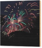 4th Of July Fireworks - 011310 Wood Print by DC Photographer