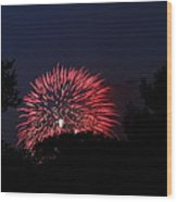 4th Of July Fireworks - 01136 Wood Print by DC Photographer