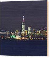 4th Of July New York City Wood Print by Raymond Salani III