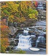 Berea Falls Wood Print by Frozen in Time Fine Art Photography