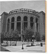 Busch Stadium - St. Louis Cardinals Wood Print by Frank Romeo