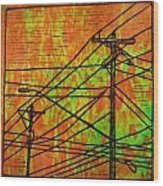 Lines Wood Print by William Cauthern