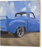 56 Studebaker Truck Wood Print by Mike McGlothlen