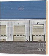 6 7 8 9 Warehouse  Wood Print by JW Hanley