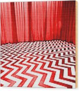 Black Lodge Wood Print by Luis Ludzska