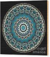 Kaleidoscope Steampunk Series Wood Print by Amy Cicconi