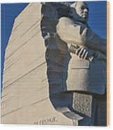 Martin Luther King Jr. Memorial Wood Print by Allen Beatty