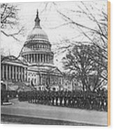 63rd Infantry Ready In Dc Wood Print by Underwood Archives