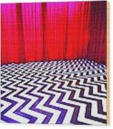 Black Lodge Wood Print by Luis Ludzska