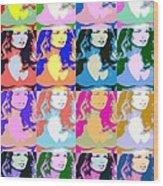 80's Daisy Pop Art Wood Print by J Anthony