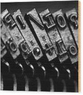 Typewriter Keys Wood Print by Falko Follert
