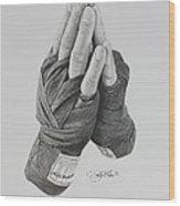 A Boxer's Prayer Wood Print by Joshua Navarra