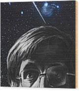 A Brief History Of Time- Stephen Hawking Wood Print by Simon Kregar