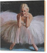 A Dancer's Ode To Marilyn Wood Print by Anna Rose Bain