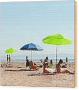 A Fine Day At The Beach Wood Print by Artist and Photographer Laura Wrede