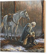 A General Before His King Wood Print by Tim Davis