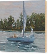 A Gift Of Memories Two On Rhodes 19 Wood Print by Laura Lee Zanghetti