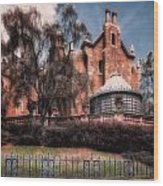 A Haunting House Wood Print by Joshua Minso