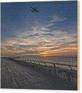 a kodak moment at the Tel Aviv port Wood Print by Ron Shoshani