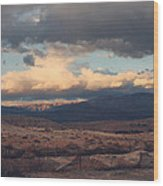 A Light In The Distance Wood Print by Laurie Search