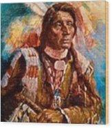 A Man Of Peace Wood Print by Ellen Dreibelbis