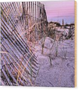 A Pink Sunrise Wood Print by JC Findley